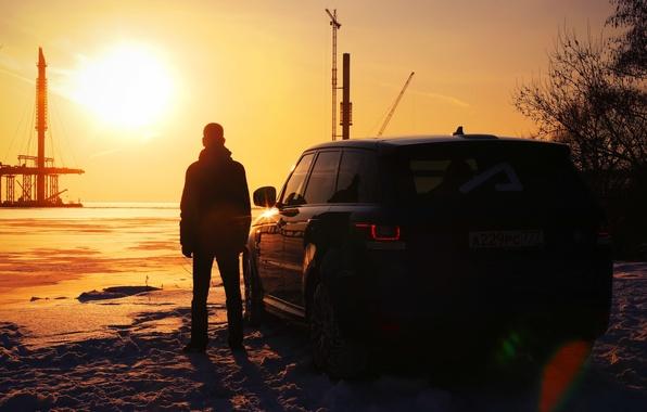 Picture auto, sunset, male, Range Rover, feed, Pintoresca, Pontorezka, Constantine Zarutskiy, AcademeG