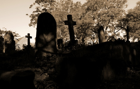 Picture sadness, death, the darkness, sadness, crosses, cemetery, longing, gloomy, tombstone