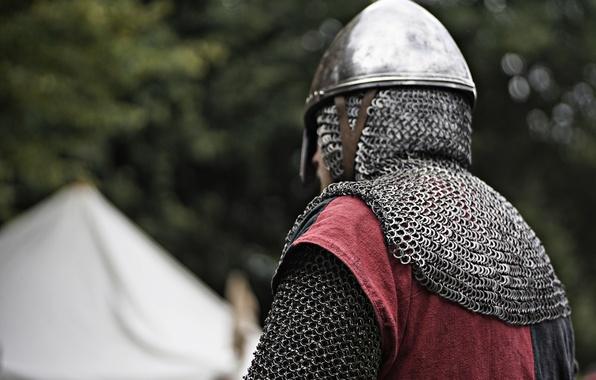 Picture armor, warrior, helmet, mail