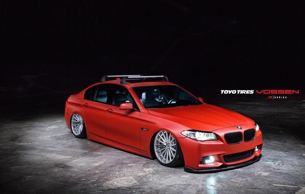 Picture Auto, BMW, Machine, before, Auto, Vossen, Wheels