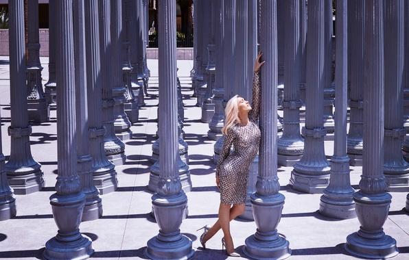 Picture pose, dress, blonde, Gwen Stefani, Gwen Stefani