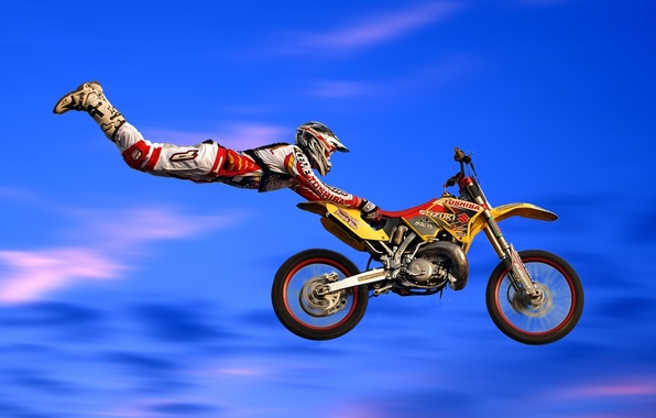 Picture jump, motorcycle, bike, motocross