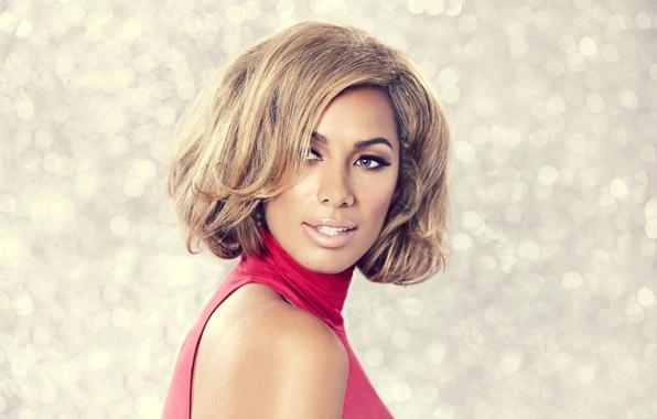 Picture eyes, look, girl, face, background, blue, singer, Leona Lewis, bokeh, Leona Lewis