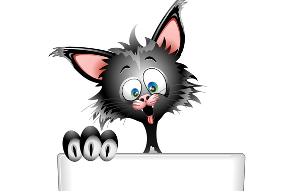 Picture language, eyes, cat, look, face, background, vector, ears