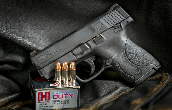 Picture gun, weapons, background, Smith & Wesson, SHIELD
