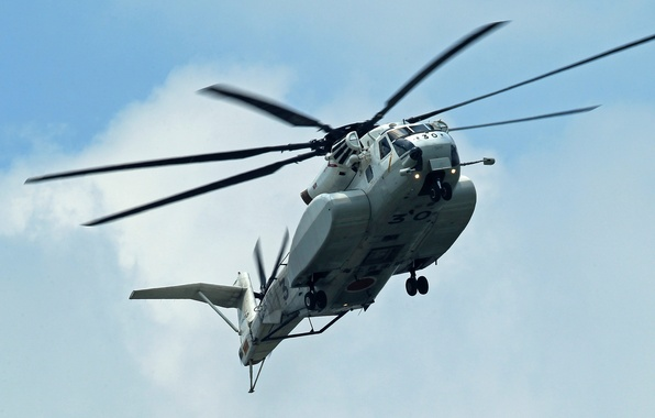 Picture flight, helicopter, military, Sikorsky, transport, heavy, Sea Stallion, CH-53E