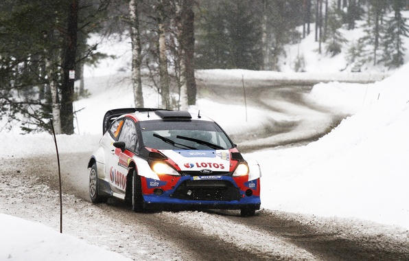 Picture Ford, Winter, Auto, Snow, Forest, Sport, Ford, Race, WRC, Rally, Rally, Fiesta