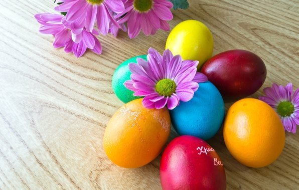 Picture flowers, holiday, eggs, Easter, Easter, eggs