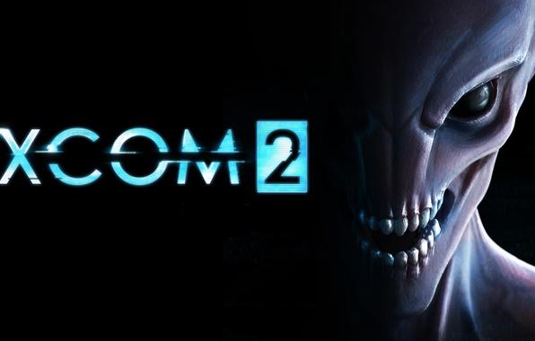 Picture look, darkness, teeth, logo, alien, logo, 2K Games, Firaxis, XCOM 2