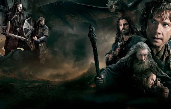 Photo wallpaper cinema, sword, movie, ken, The Lord of the Rings, blade, dragon, Gandalf, Ian McKellen, The ...