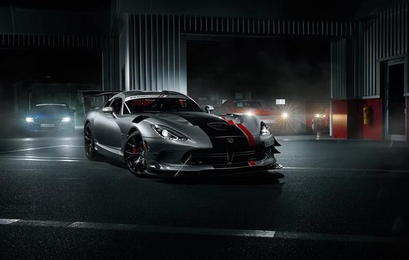 Picture Dodge, Car, Viper, Front, Sport, American, Silver, ACR