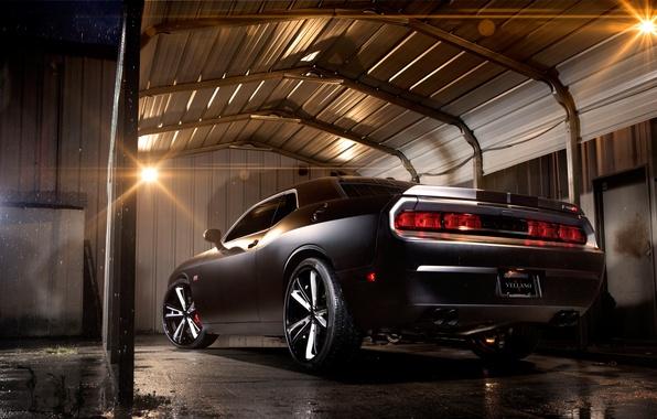 Picture Auto, Night, Tuning, Machine, Dodge, Challenger, Garage