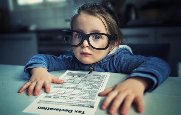 Picture portrait, glasses, girl