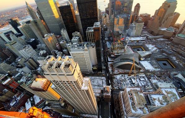 Picture landscape, sunset, skyscraper, home, New York, USA