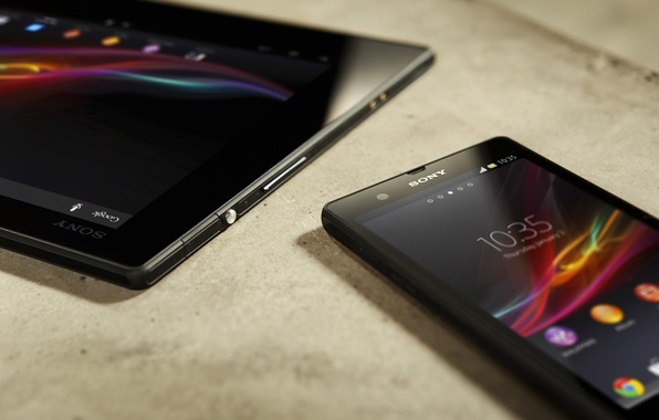 Picture phone, tablet, sony, xperia, tablet
