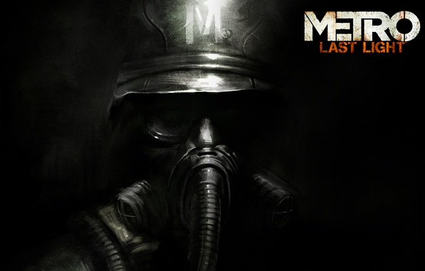 Picture Logo, Gas mask, Helmet, Soldiers, Logo, 4A Games, Deep Silver, Metro: Last Light, Metro: Ray …