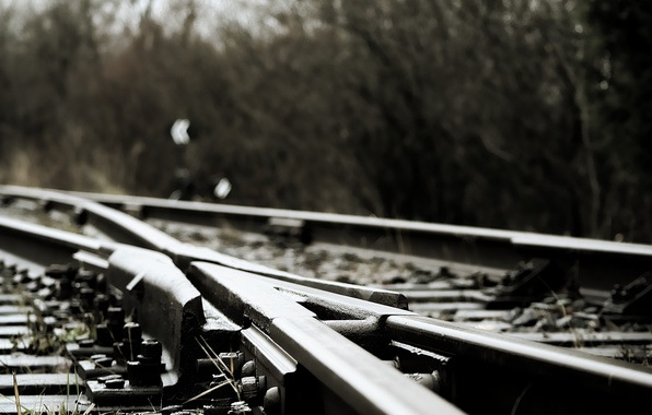 Picture rails, railroad, sleepers