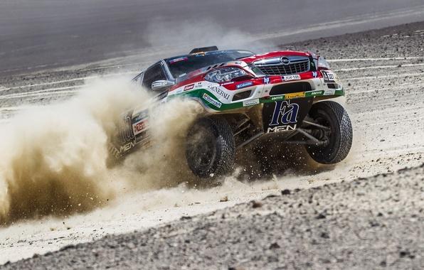 Picture Auto, Dust, Wheel, Speed, Opel, Opel, Rally, Dakar, Dakar, SUV, The front