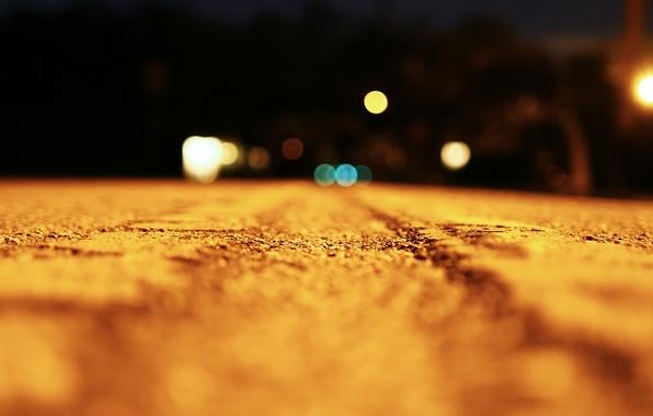 Picture road, macro, light, night, light, road, night, macro, bokeh, 1920x1080, bokeh effect