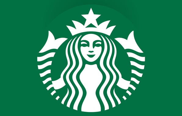 Picture green, coffee, emblem, logo, coffee, Starbucks