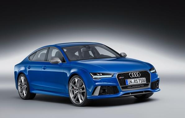 Picture blue, Audi, Audi, RS 7, sign