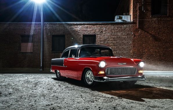 Picture car, classic, retro, 1955, Chevrolet Bel Air, Chevy Hardtop