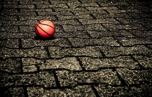 Picture the ball, basketball, BACKGROUND, SURFACE, TILE, SPORT, PAVERS