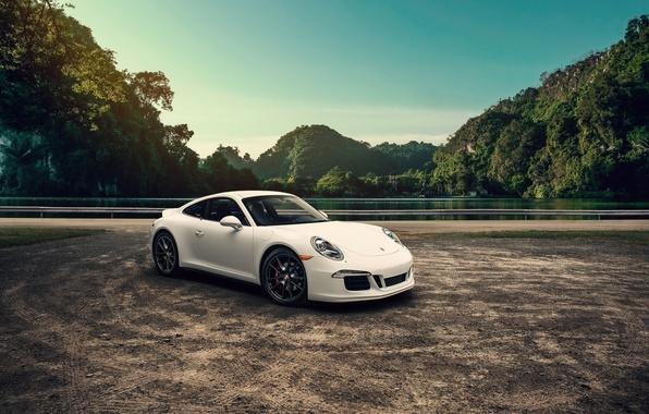 Picture 911, Porsche, Landscape, Carrera, White, Mountains, Supercar
