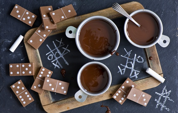Picture chocolate, Cup, Domino