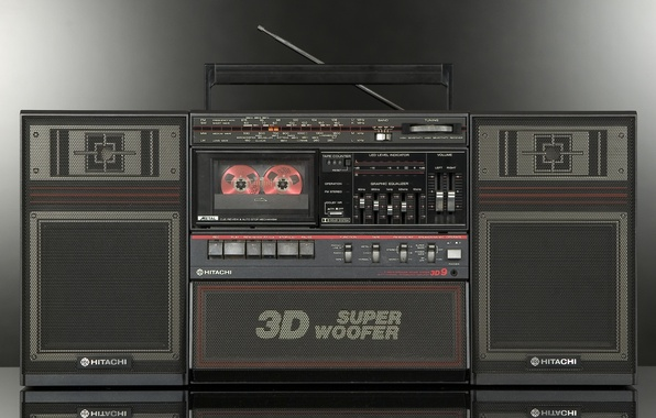 Picture retro, classic, tape, Hitachi, TRK-9230E 3D9