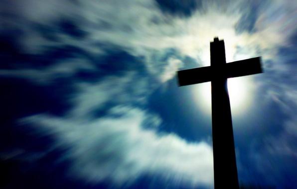 Picture light, cross, cemetery