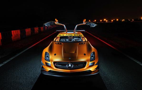 Picture Mercedes-Benz, AMG, SLS, orange, GT3S