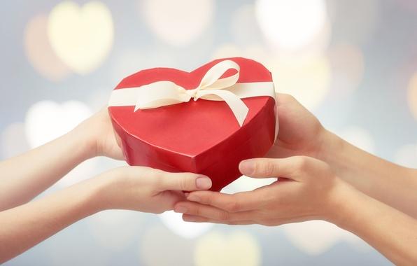 Photo wallpaper heart, love, heart, love, gift, romantic