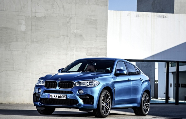 Picture photo, BMW, Blue, Car, 2015, X6 M, Metallic