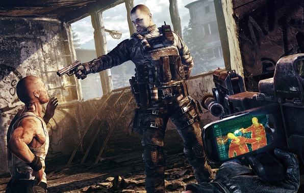Picture Gun, Building, Soldiers, Weapons, Phone, Military, The situation, Equipment, Smartphone, Get Even, The Farm 51