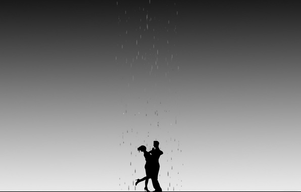 Picture light, rain, shadow, silhouettes