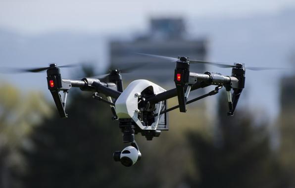 Picture flight, drone, drone, quadcopter