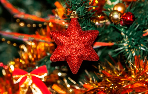 Picture holiday, star, tree, decoration