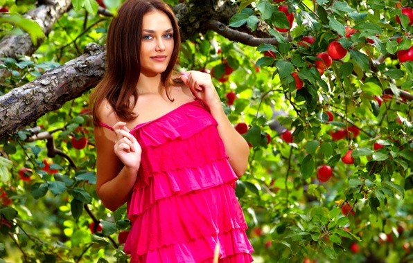 Picture summer, dress, trees, the, nature, photo, with, beautiful, figure, view, model, garden, hair, shoot, greenery, …