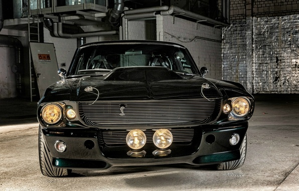 Picture Mustang, Ford, Shelby, Eleanor, GT 500, Black, Muscle car, Shelby, Ford Mustang