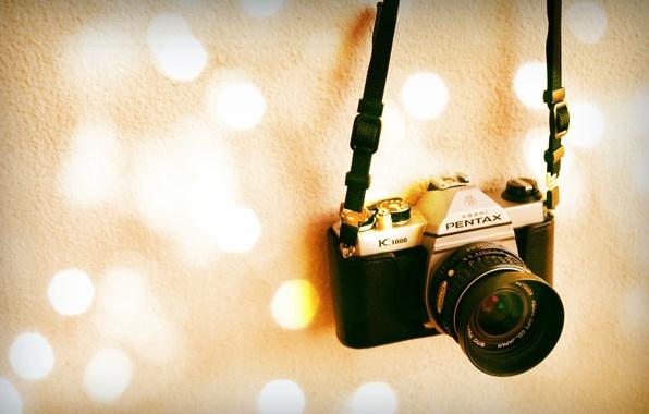 Photo wallpaper Pentax K1000, background, camera