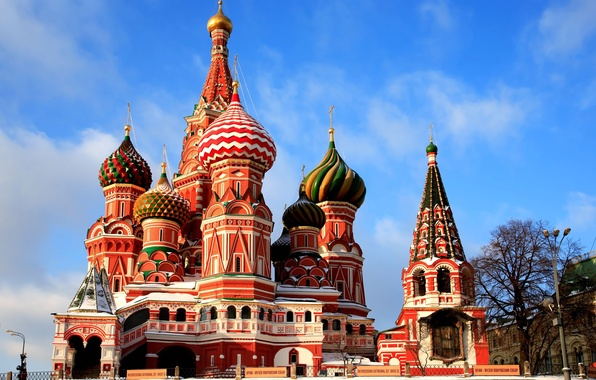 Picture Moscow, St. Basil's Cathedral, architecture, Moscow, dome, red square, perfect, Red Square, St. Basil\'s Cathedral