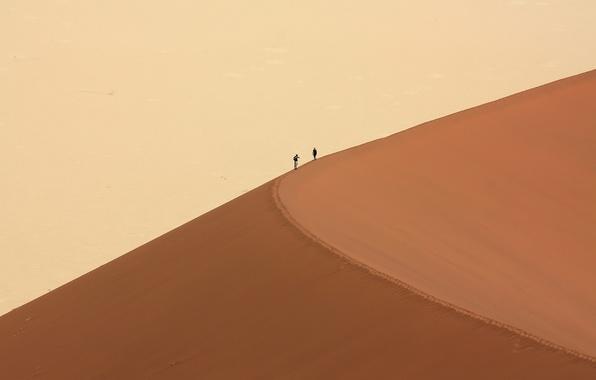 Picture people, desert, dune