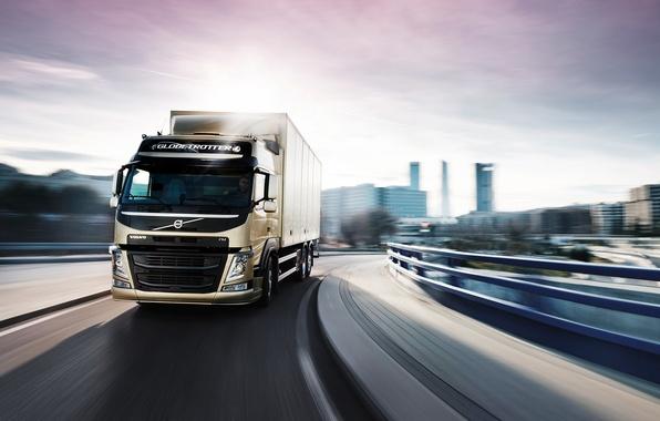 Picture road, the city, van, volvo, truck, Volvo