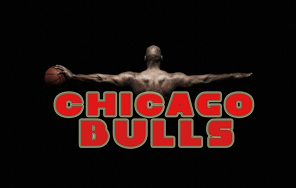 Picture Red, Black, The ball, Basketball, Background, NBA, Chicago Bulls, Chicago Bulls, Name