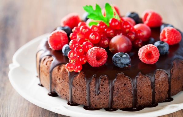 Picture berries, raspberry, chocolate, strawberry, cake, cake, dessert, currants, cakes, sweet, sweet, dessert, berries