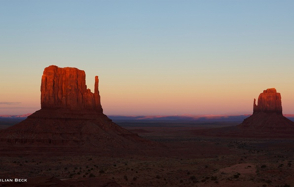 Picture the sky, light, rocks, the evening, AZ, USA, Monument Valley