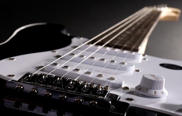 Picture strings, Guitar, closeup