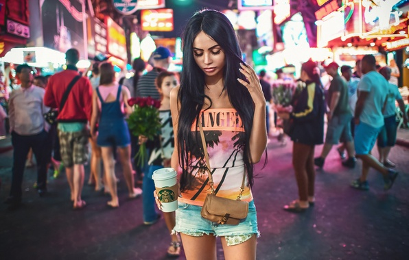 Picture Girl, Light, Beautiful, Sexy, Model, New York, Female, Beauty, Times Square, Summer, Fashion, Glamour, Pretty, …