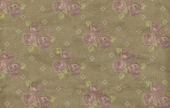 Picture background, roses, wallpaper, ornament, vintage, texture, floral, pattern, paper, floral